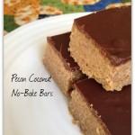 No Bake Pecan Coconut Bars