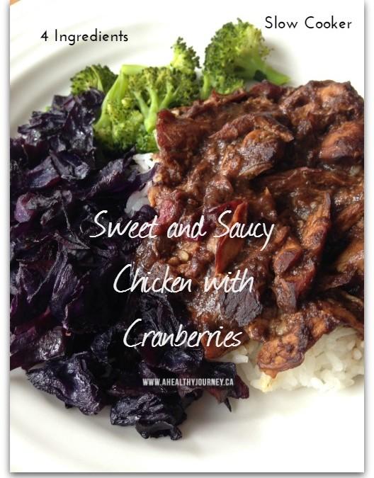 Simple Slow Cooker Chicken Cranberries Recipe