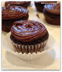 Mini paleo chocolate cupcake