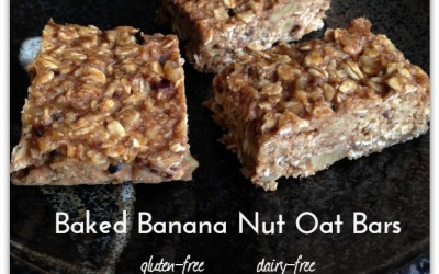 Banana Nut Oat Bars