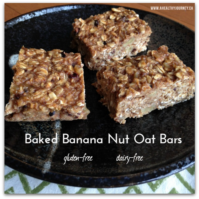 Banana Nut Oat Bars