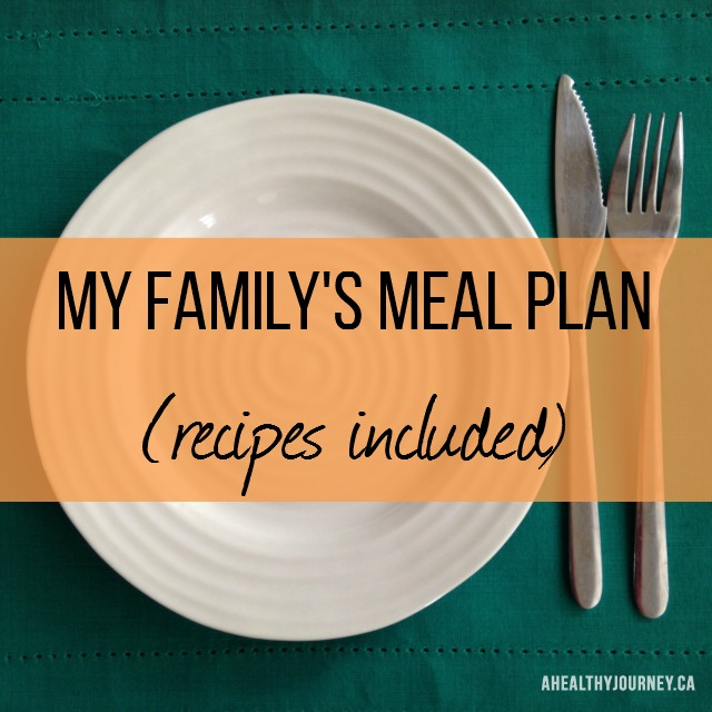 My Family Meal Plan