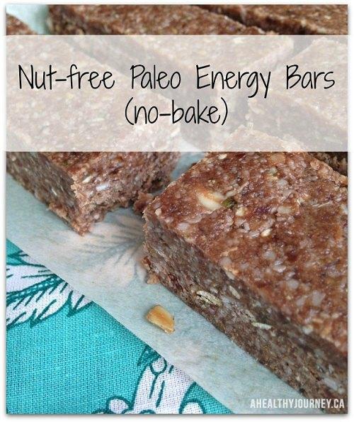 No-Bake Paleo Energy Bars (Nut-free)