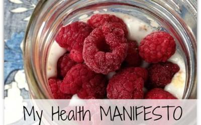 My Health Manifesto