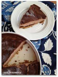 plated chocolate ice cream cake